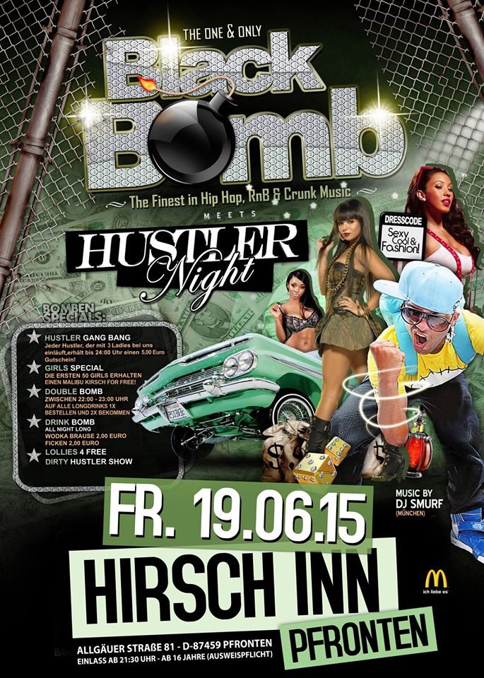 BLACK BOMB presents... the HUSTLER Night!